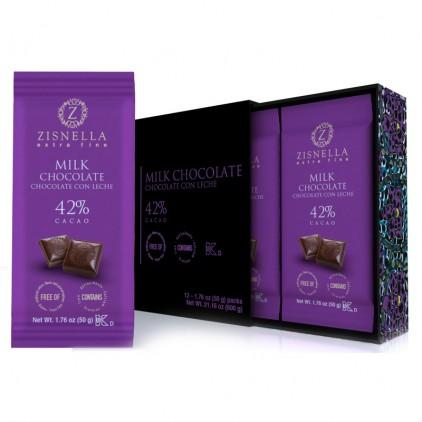 Caja de chocolate con leche ZISNELLA