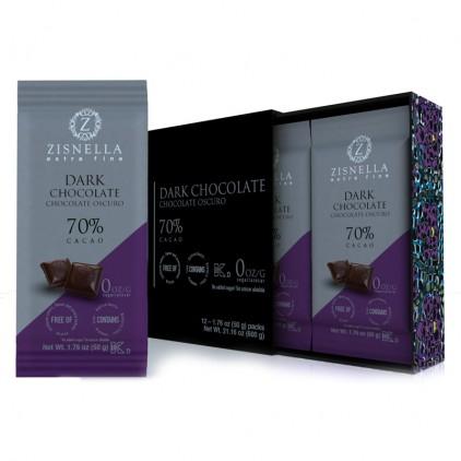 Caja de chocolate oscuro sin azúcar ZISNELLA